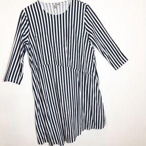 ASOS | 3/4 Sleeve Asymmetric Striped Dress